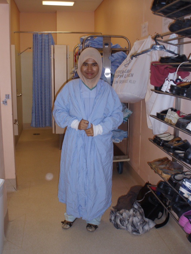 Me with surgical long gown
