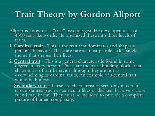 trait-theory