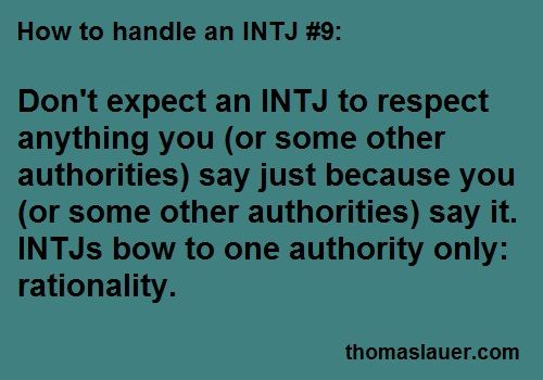 INTJ and authority
