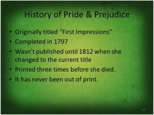 history of pride and prejudice