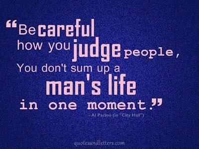 judge man's life