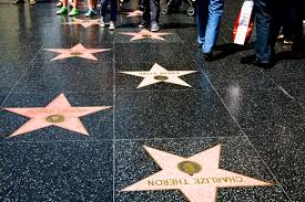 The name of the rest of the other celebrities were placed on the ground.