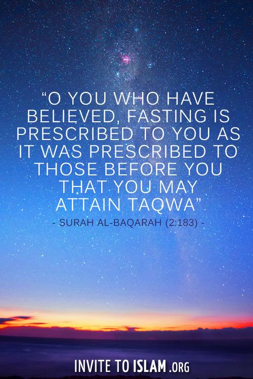 fasting taqwa